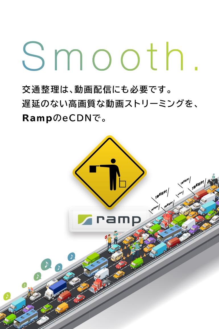 RampのeCDNで遅延のない高画質な動画配信を